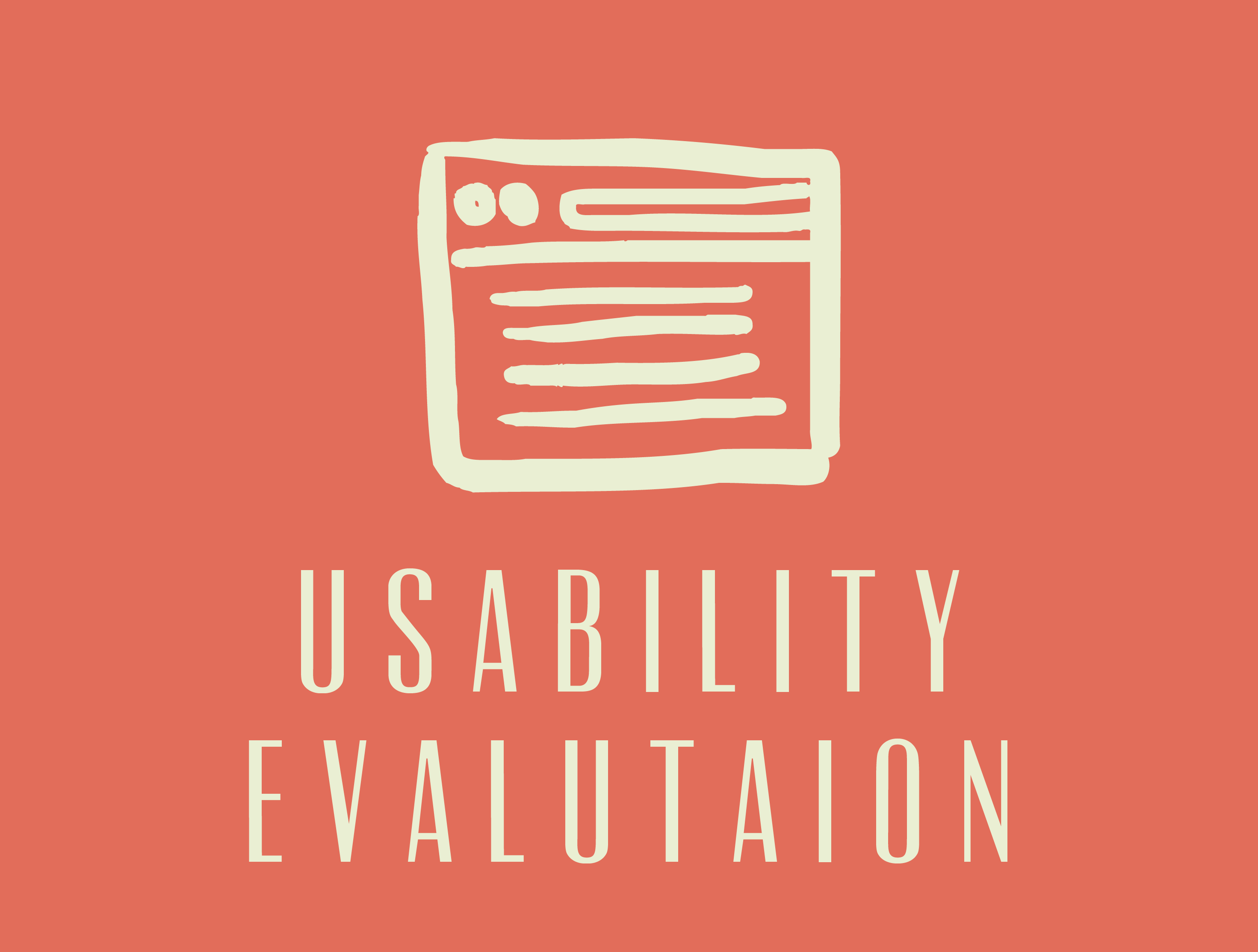 Usability Evaluation with wireframe icon