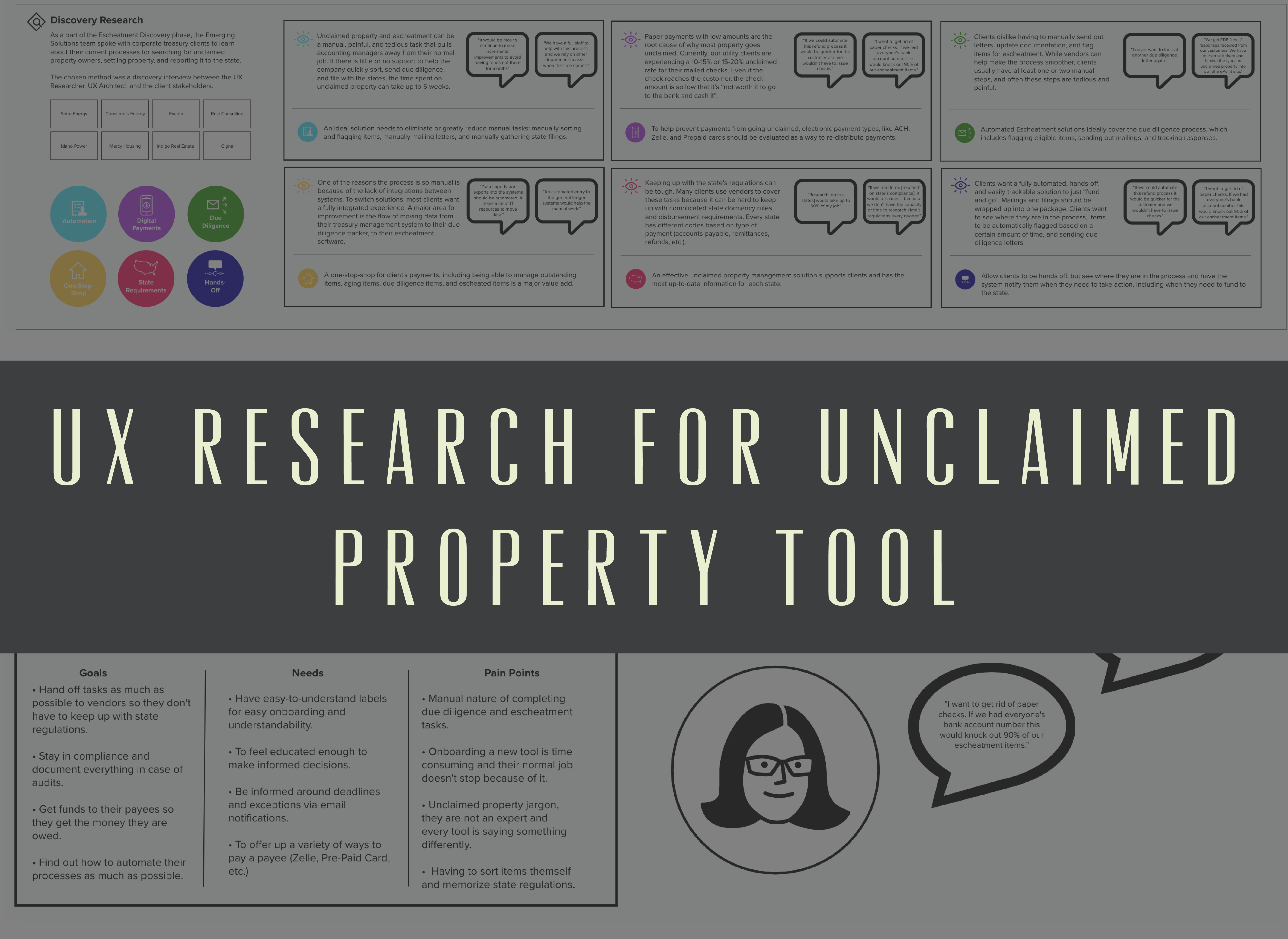 UX Research for Unclaimed Property Tool